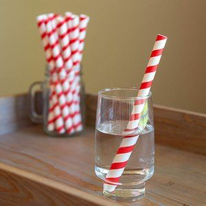 100 Paper Smoothie Straws - Extra Wide